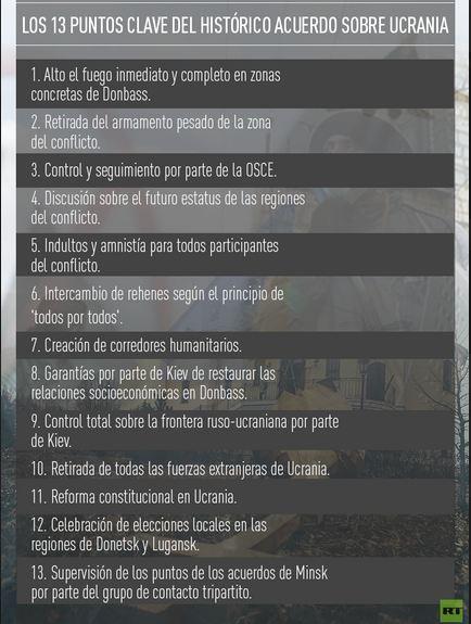 13 puntos clave del acuerdo sobre Ucrania