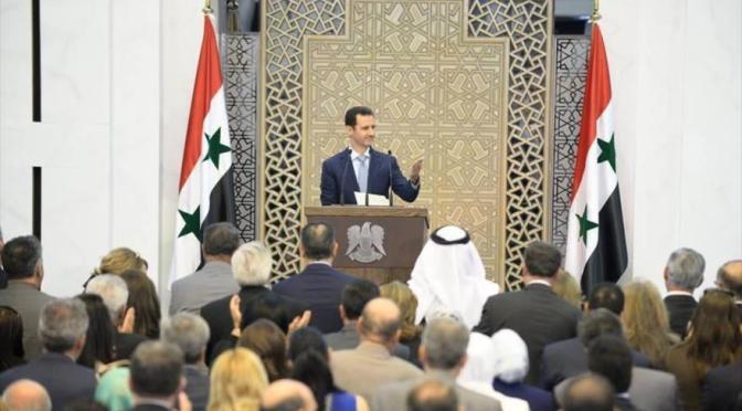 Al-Asad denuncia hipocresía de Occidente en lucha antiterrorista