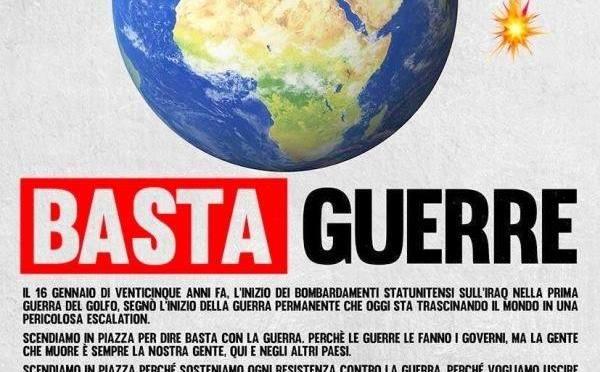 """El Comité """"No NATO, No guerra"""" convoca a manifestación en Roma, el 25º aniversario de la guerra contra Irak"""