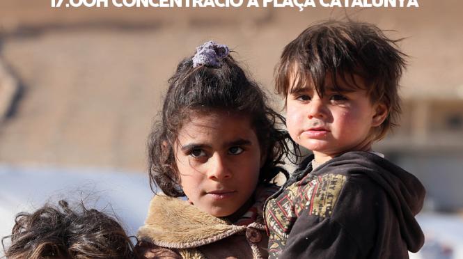Concentración en Barcelona: No a la guerra. OTAN no, bases fuera.