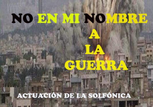 Concentración en Collado Villalba: No en mi nombre, no a la guerra