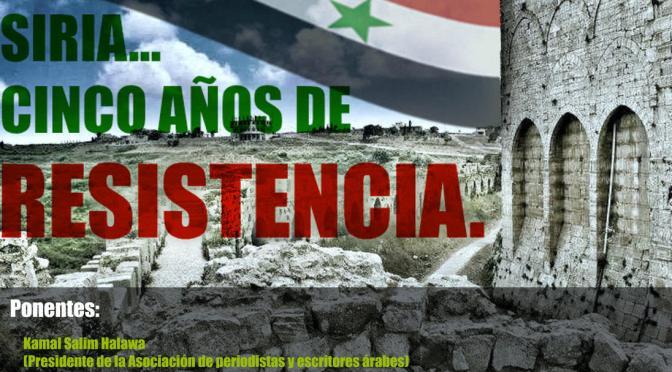Conferencia: Siria, cinco años de resistencia