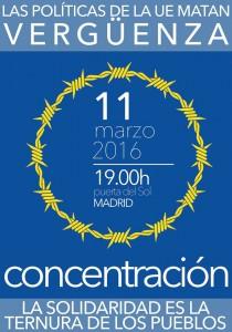 Concentración en Madrid contra la fortaleza europea