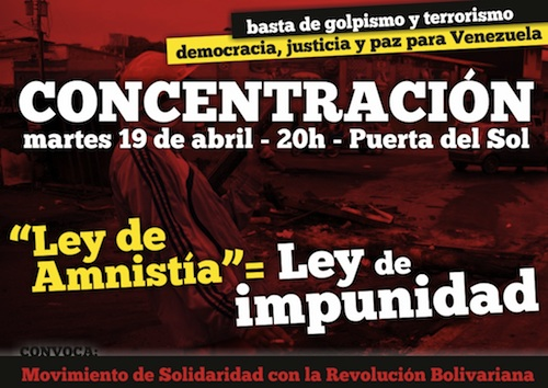 Basta de golpismo y terrorismo. Democracia, justicia y paz para Venezuela