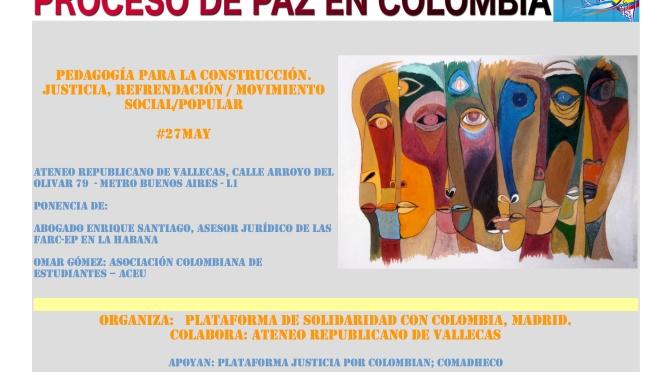 Proceso de Paz en Colombia. Pedagogía para la construcción