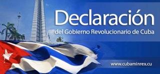 Declaración del Gobierno Revolucionario de Cuba sobre el golpe en Brasil
