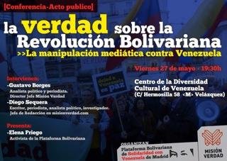 Acto: La verdad sobre la Revolución Bolivariana