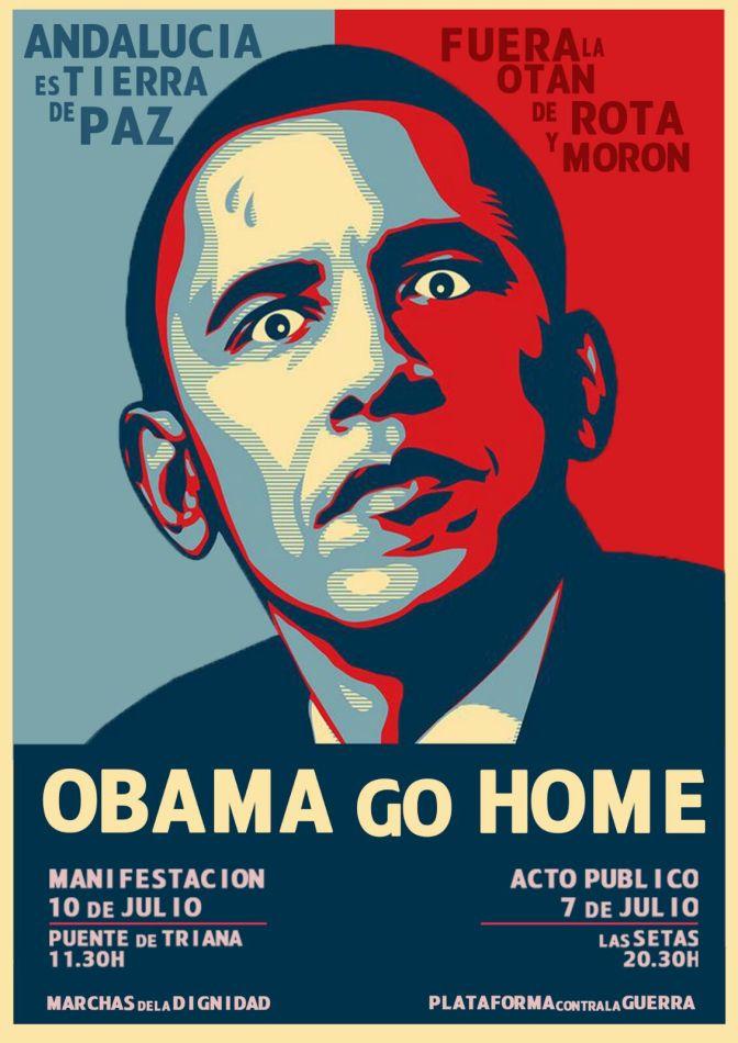 Andalucía grita: Obama, go home