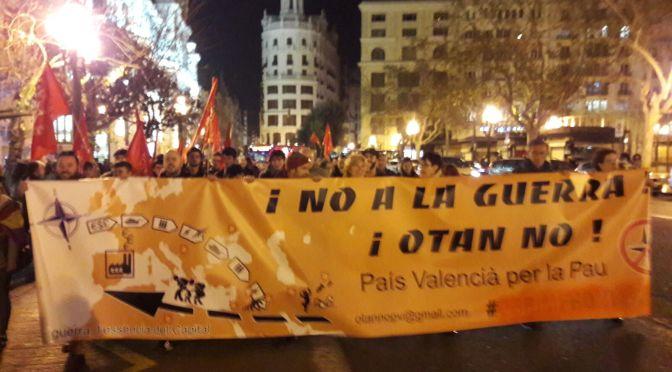 Concentración Valencia #Antisiko, en respuesta a la Conferencia de Seguridad en Munich