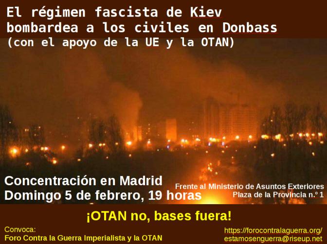 El régimen fascista de Kiev bombardea a los civiles en Donbass