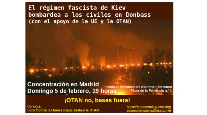 Concentración contra la agresión nazi a Donetsk