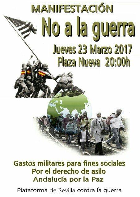 Manifestación No a la guerra. Sevilla