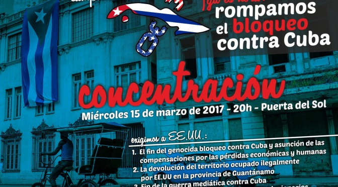 Concentración contra el bloqueo a Cuba, Madrid