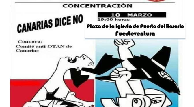 Canarias dice NO. Concentración anti-OTAN