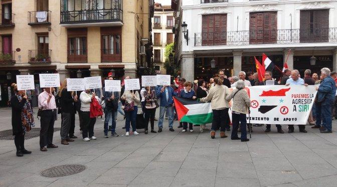 Acto contra complicidad española en ataque a Siria