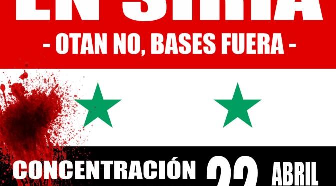 Convocatoria: ¡No a la guerra imperialista en Siria!