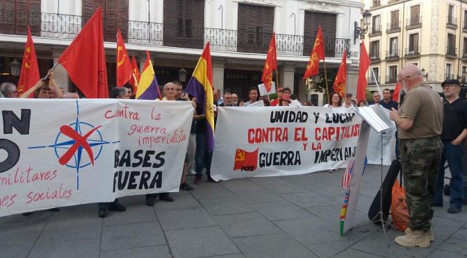 Concentración en Madrid: Contra la guerra imperialista; Gastos militares para fines sociales; ¡OTAN no, bases fuera!