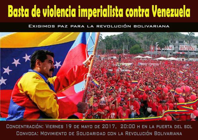 Basta de violencia imperialista contra Venezuela. A por la Constituyente
