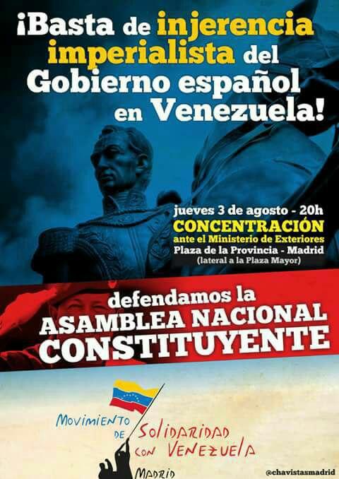 Concentración en defensa de la Revolución Bolivariana 3Ago 20hs