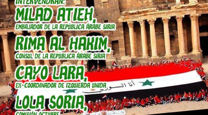 Acto público en Madrid: Siria, la reconstrucción