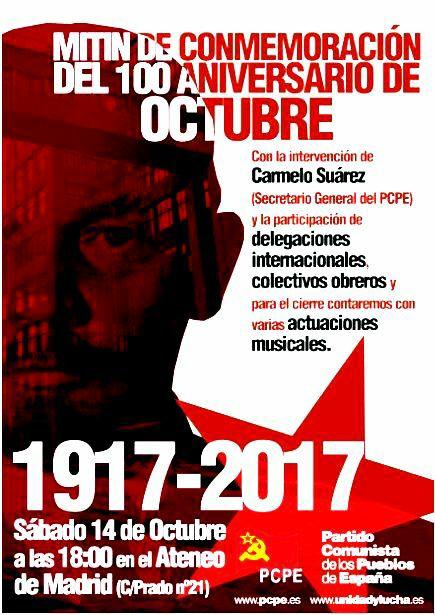 Mitin de conmemoración del 100 aniversario de Octubre