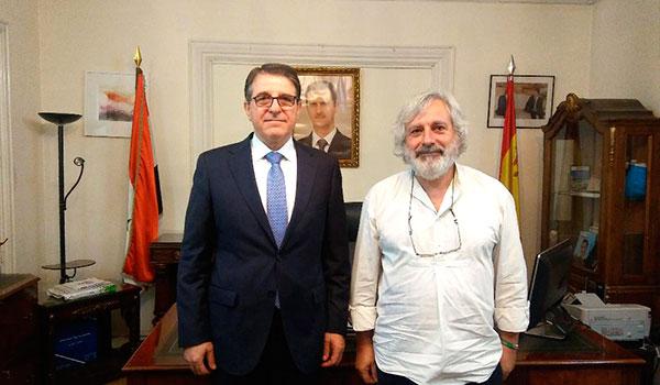 """Entrevista con el Embajador de Siria en Madrid, señor Milad Atieh. (3)  Siria, relación con España. """"La gente se ha dado cuenta de que lo que ocurre en Siria es una guerra del pueblo sirio, su Ejército y su Gobierno frente al terrorismo""""."""