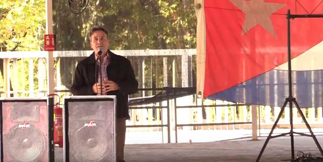 Embajador de Cuba en España, Gustavo Machín Gómez, en Homenaje al Che