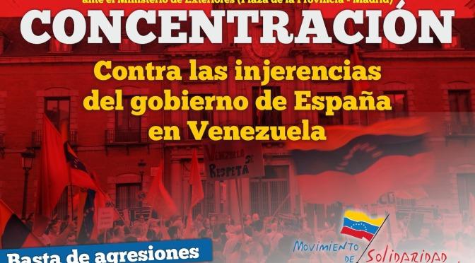 Concentración contra las injerencias del Gobierno de España contra Venezuela