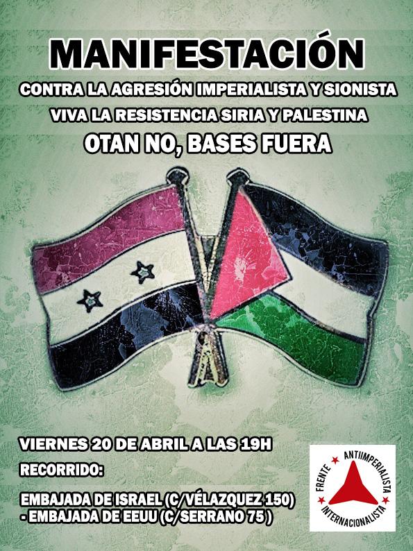 Contra la agresión imperialista y sionista. Manifestación en Madrid