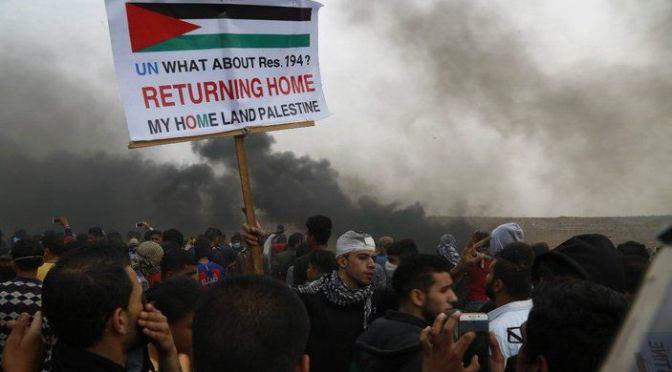 Gran Marcha del Retorno a Palestina. 5º viernes. Viernes de la Juventud Rebelde.