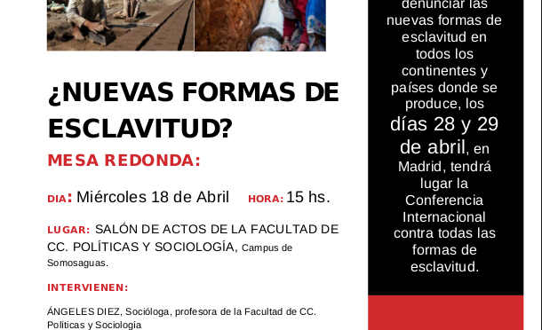 Acto en Madrid: ¿Nuevas formas de esclavitud?