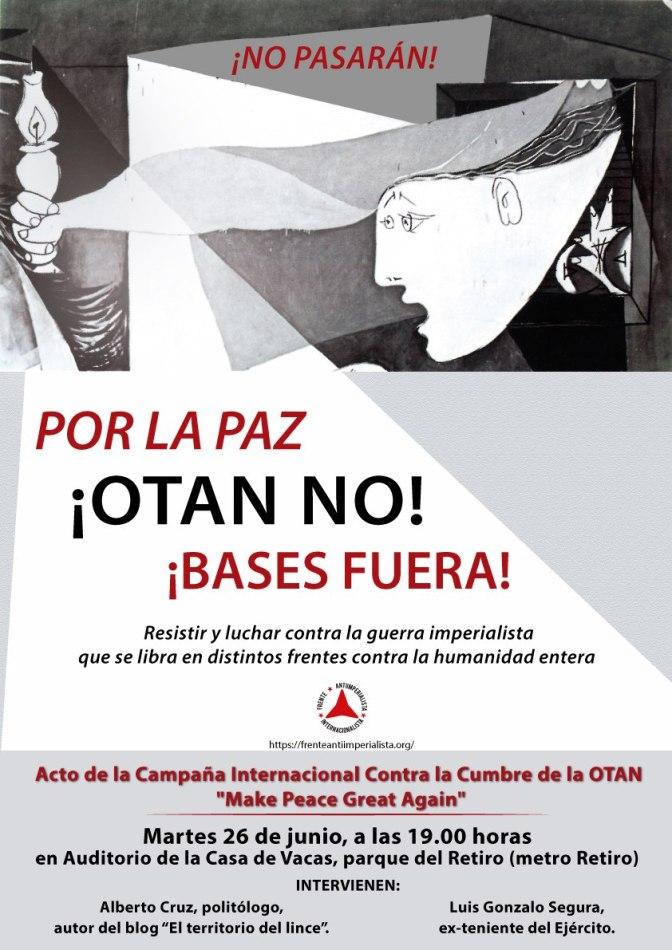 Acto  en Madrid: Por la Paz, ¡OTAN no, bases fuera!