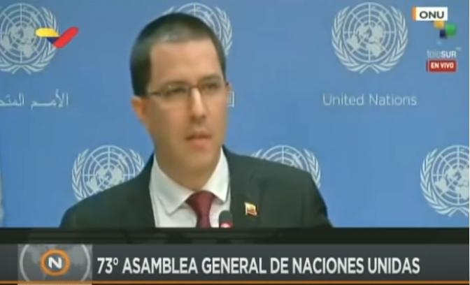 La firme respuesta de Jorge Arreaza a Donald Trump tras alentar a un golpe contra Maduro
